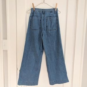 Emmett Wide-Leg Crop Jeans in Langston Wash